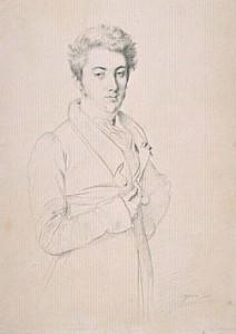 Portrait de Lodoïs de Martin du Tyrac, Comte de Marcellus, en 1825 par Ingres