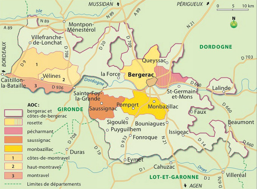 Le vignoble de Bergerac